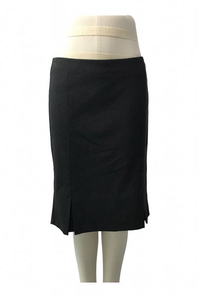Sisley, Women's Black Midi Skirt - Size: L