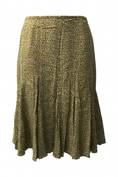 Kasper, Women's Beige And Brown Skirt - Size: 10 (Regular)