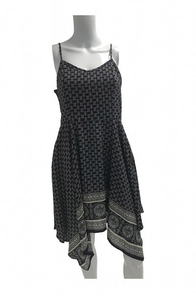 Xhilaration, Women's Black And Grey Spaghetti-strap Dress - Size: L (Regular)