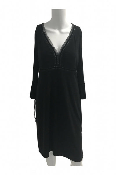 Laundry, Women's Black Long-sleeved Dress - Size: 10 (Regular)