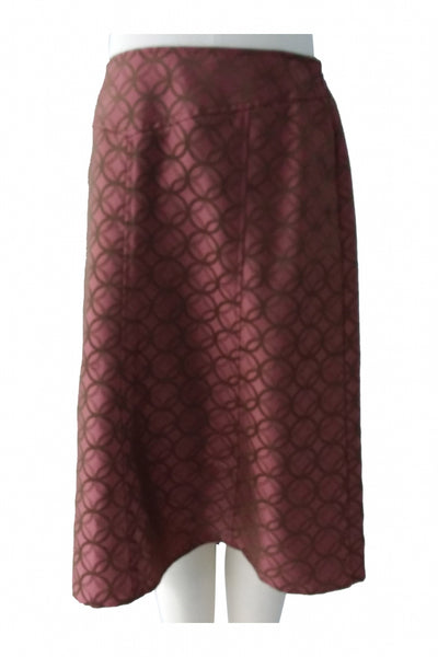 I.e., Women's Pink And Brown Skirt - Size: 12 (Regular)