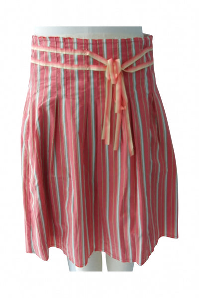 Old Navy, Women's Pink And White Pinstripe Skirt - Size: 4 (Regular)