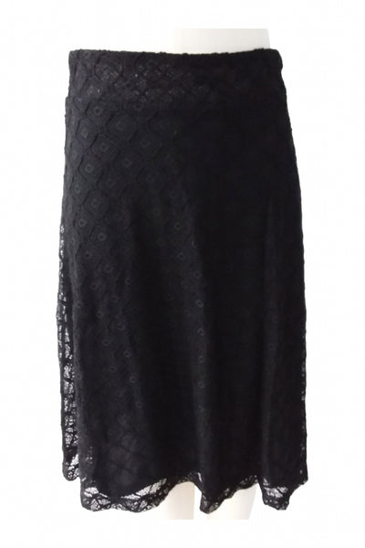 Zac & Rachel, Women's Black Knit Skirt - Size: S (Regular)