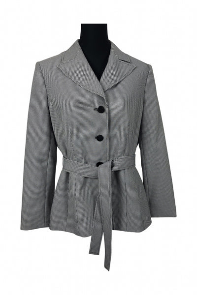 Collections For Le Suit, Women's Black And White Jacket - Size: 14 (Regular)