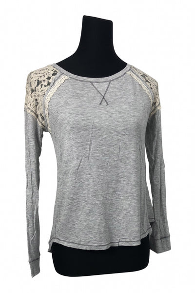 Rewind, Women's Gray  Long-sleeved Shirt - Size: S (Regular)