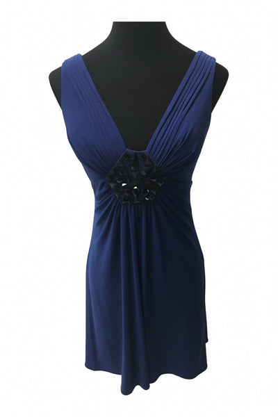 N.w Collections, Women's Blue Sleeveless Dress - Size: 8 (Regular)