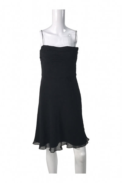 Loft, Women's Black Spaghetti-strap Dress - Size: 8 (Petite)