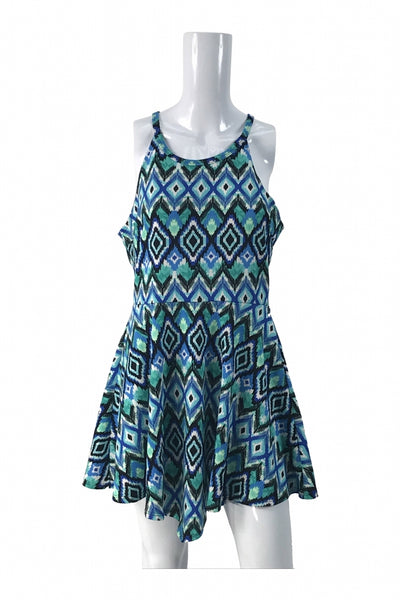 Rue 21, Women's Teal And Black Sleeveless Dress - Size: XL (Regular)