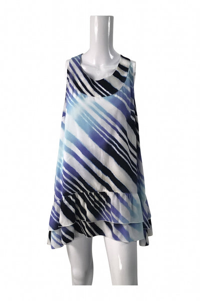Style&Co, Women's White And Blue  Dress - Size: XL (Regular)