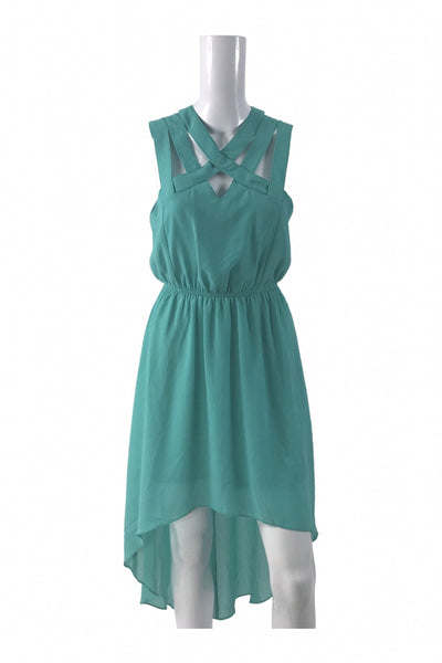 Forever 21, Women's Green Sleeveless Dress - Size: M (Regular)