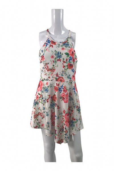 Rue 21, Women's White, Red, And Green Floral Sleeveless Dress - Size: XL (Regular)