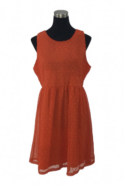 Jessica Taylor, Women's Orange Sleeveless Dress - Size: XL (Regular)