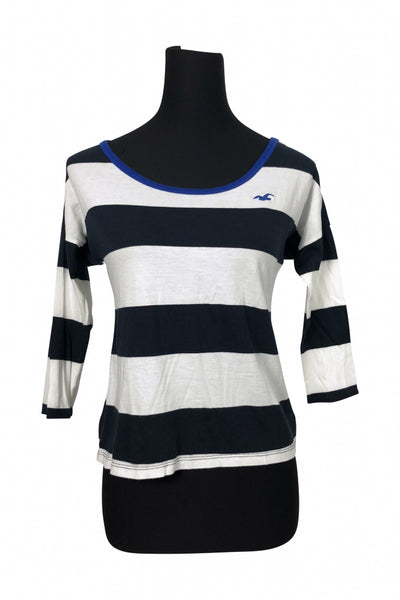 Hollister, Women's Black And White Top - Size: S (Regular)