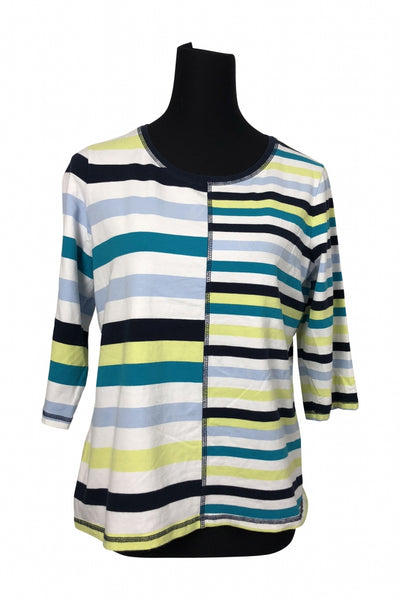 Christopher & Banks, Women's Multi Color Stripe Top - Size: L (Regular)
