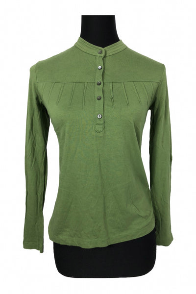 Charter Club, Women's Green Long-sleeved Shirt - Size: 2