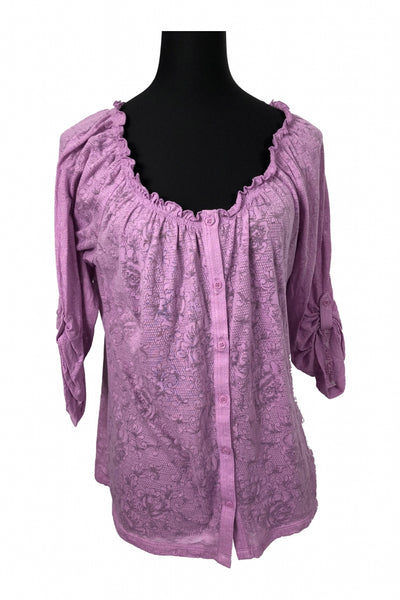 New York & Company, Women's Purple Top - Size: L (Regular)