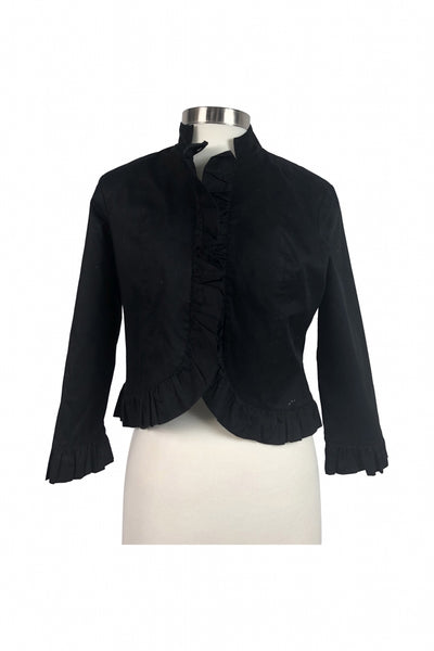 Donna, Women's Black Button-up Jacket - Size: 8 (Petite)