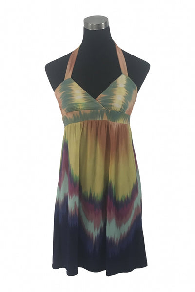 City Studios, Women's Teal, Yellow, And Purple Dress - Size: M (Regular)