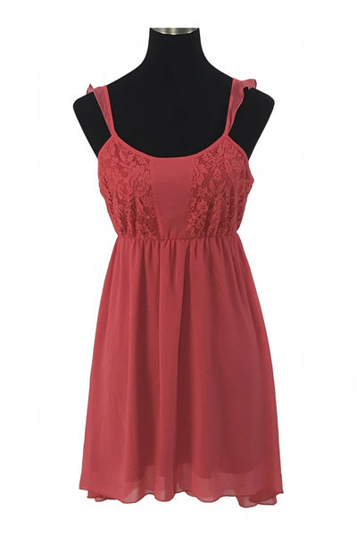 Final Touch, Women's Red Spaghetti Strap Dress - Size: L (Regular)