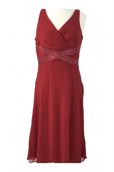 Jessica Howard, Women's Red Sleeveless Dress - Size: 16 (Regular)