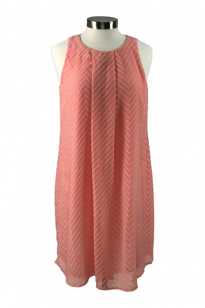 Spring, Women's Woman's Pink Dress - Size: L (Regular)