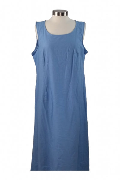 Erika, Women's Blue Crew-neck Sleeveless Dress - Size: XL (Regular)