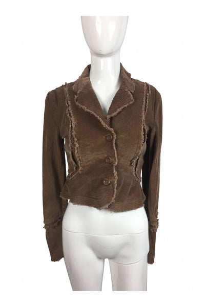 Plugg, Women's Brown 3-button Jacket - Size: S (Regular)