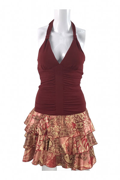 Speechless, Women's Maroon Sleeveless Dress - Size: M (Regular)
