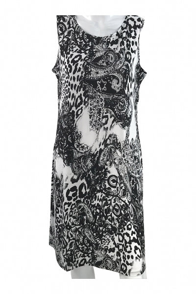 Effortless Style, Women's Black And White Floral Dress - Size: M (Regular)