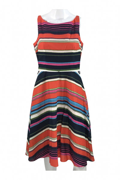 Evan Picone, Women's Multicolored Striped Sleeveless Dress - Size: 6 (Regular)
