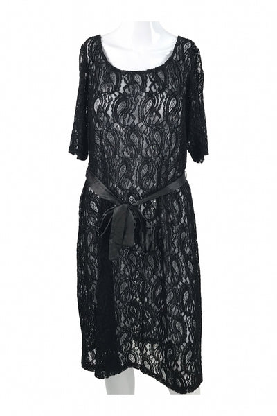 Three Seasons, Women's Black Lace Dress - Size: XL (Regular)