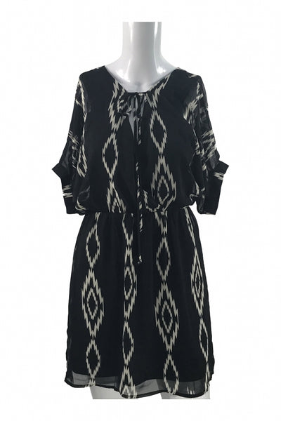 Bee Stitched, Women's Black And White Dress - Size: S (Regular)