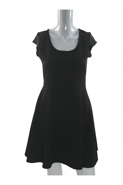 Pine, Women's Black Sleeveless Dress - Size: L (Regular)