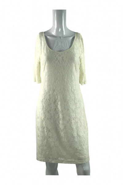 Banana Republic, Women's Off White Dress - Size: 10 (Regular)