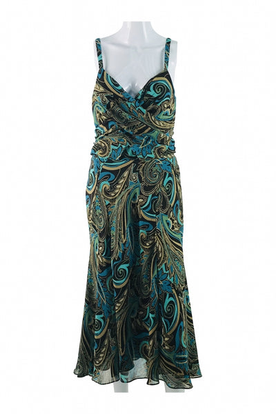 Bandolino, Women's Multicolor Floral Spaghetti Strap Dress - Size: 8 (Regular)