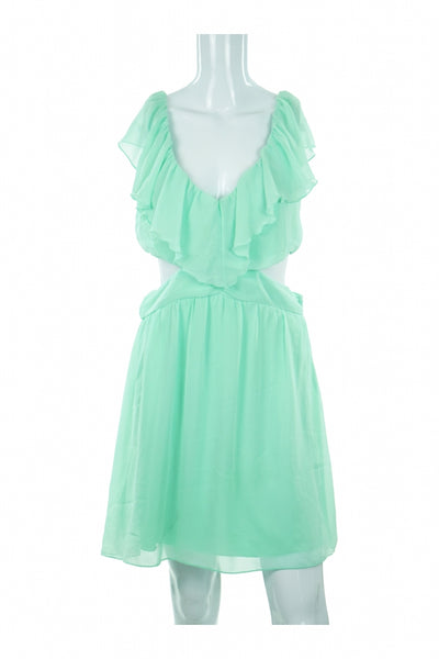 Wet Seal, Women's Green Scoop-neck Sleeveless Dress - Size: L (Regular)