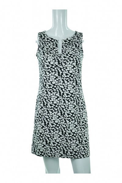 New York & Company, Women's Black And White Floral Dress - Size: S (Regular)