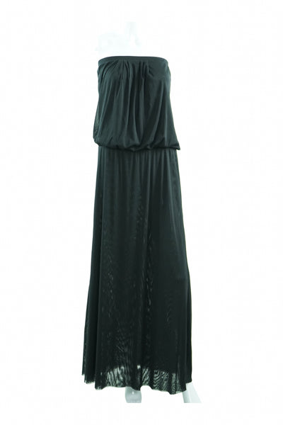Cinthhiarowley, Women's Black Strapless Long Gown - Size: M (Regular)