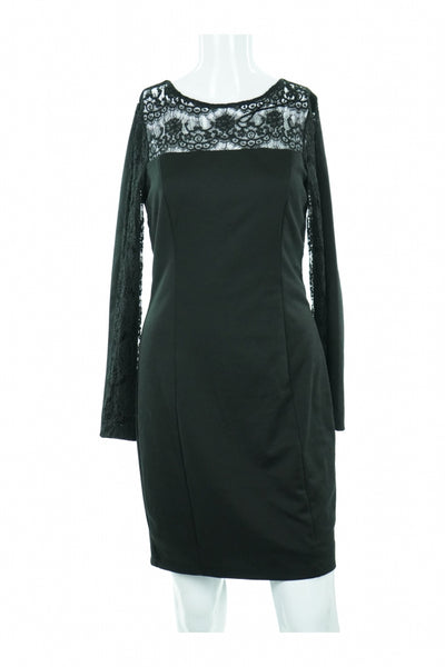 Jessica Simpson, Women's Black Long-sleeved Dress - Size: 4 (Regular)