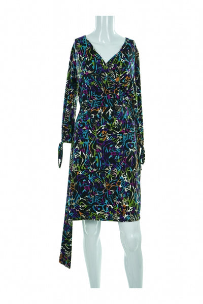 Nicola, Women's Green, Blue, And Red Floral  Dress - Size: M (Regular)