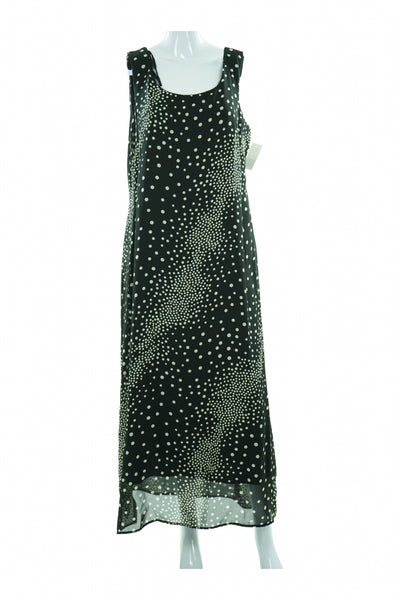 Rabbit Rabbit Rabbit Designs, Women's Black And White Polka Dot Dress - Size: 16 (Regular)