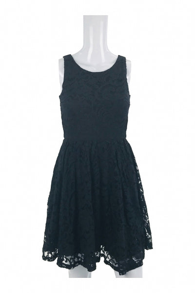 Soprano, Women's Black Lace Sleeveless Scoop-neck Dress - Size: XS (Regular)