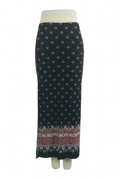 Contenta, Women's Black, Red ,and White Maxi Skirt - Size: M (Regular)