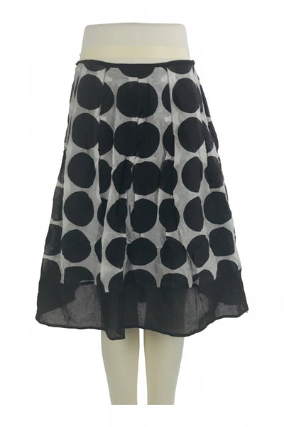 AGB, Women's Black And Grey Skirt - Size: 16 (Regular)
