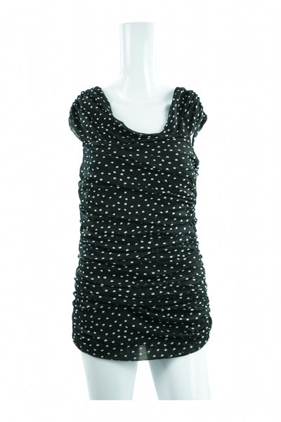 White Black, Women's Black And White Scoop-neck  Dress - Size: M (Regular)