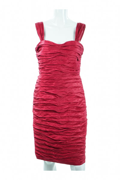 Jones New York, Women's Red Bodycon Dress - Size: 8 (Regular)