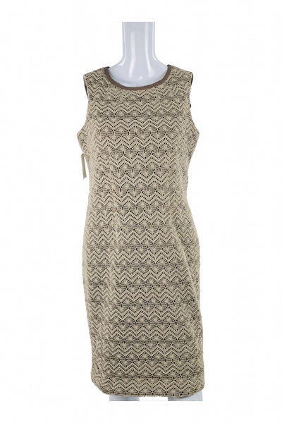 Anne Klein, Women's Beige Sleeveless Dress - Size: 10 (Regular)