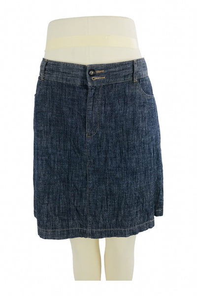 Dockers, Women's Blue Denim Skirt - Size: 10 (Regular)