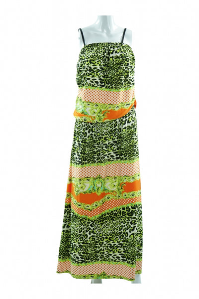 Pink Apple, Women's Green, Red, And Black Sleeveless Dress - Size: M (Regular)