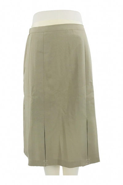 Unbranded, Women's Grey Midi Skirt - Size: 8 (Regular)